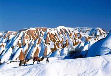 Resim Kapadokya'da Karlı Gün