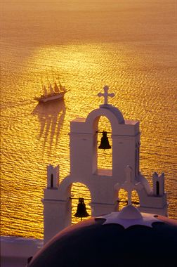 Picture of Church of Gold and Sailboat